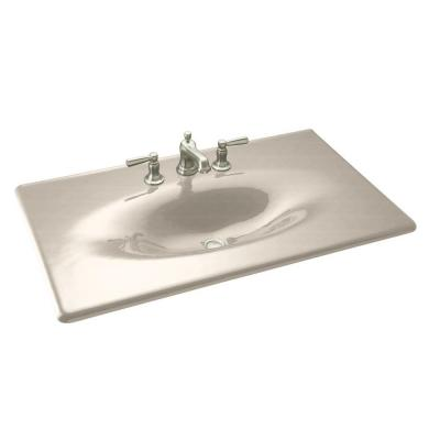 KOHLER Iron/Impressions 37 in. Cast Iron Vanity Top and Basin in Cane Sugar