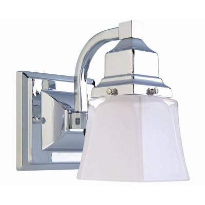 Hampton Bay 1-Light Chrome Bath Light