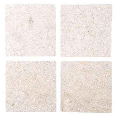 Giallo Sienna 6 in. x 6 in. Marble Floor/Wall Tile