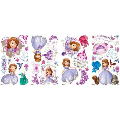 null Sofia the First Peel and Stick 37-Piece Wall Decals