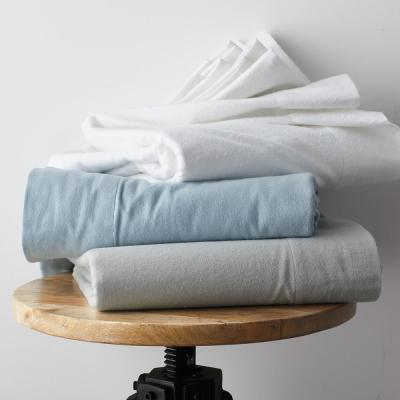 Solid Organic Flannel Fitted Sheet