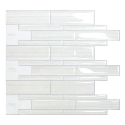 Smart Tiles Infinity Blanco 10 51 In W X 9 71 In H Peel And Stick Decorative Mosaic Wall Tile Backsplash Sm1028 1 The Home Depot