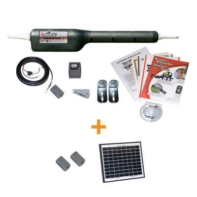 Mighty Mule Medium Duty Single Swing Automatic Gate Opener Solar-Saver Package