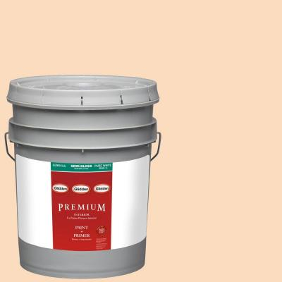 5-gal. #HDGO29U Peach Powder Semi-Gloss Latex Interior Paint with Primer
