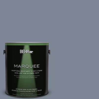 BEHR MARQUEE 1-gal. #PPU14-5 Forever Denim Semi-Gloss Enamel Exterior Paint
