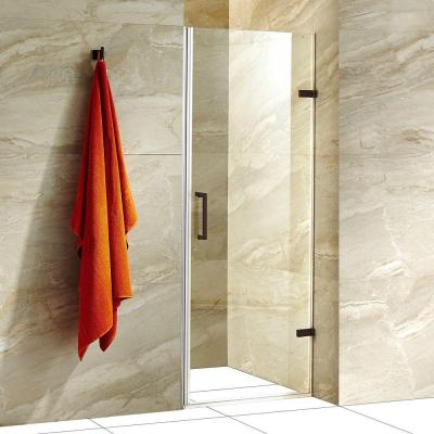 SoHo 26.5 in. x 70.625 in. Frameless Pivot Shower Door with