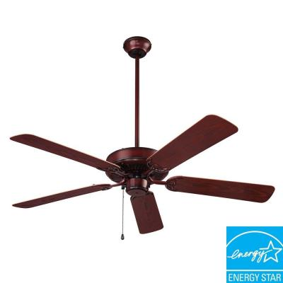 NuTone Wet Rated Series 52 in. Outdoor Weathered Bronze Ceiling Fan