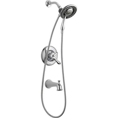 Linden In2ition 1-Handle Tub and Shower Faucet Trim Kit in Chrome (Valve Not Included) Product Photo