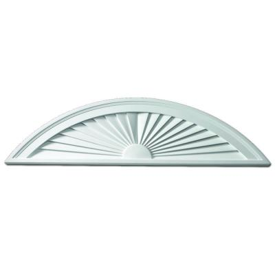 80 in. x 15 in. x 1-3/4 in. Polyurethane Segment Sunburst Pediment Product Photo