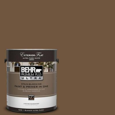1-gal. #PPU4-20 Ancient Root Flat Exterior Paint