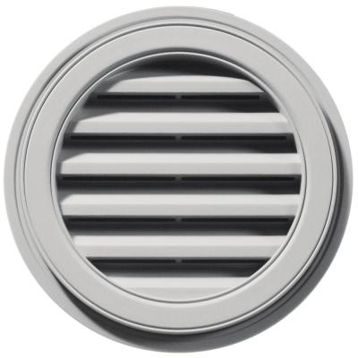 18 in. Round Gable Vent in Paintable Product Photo