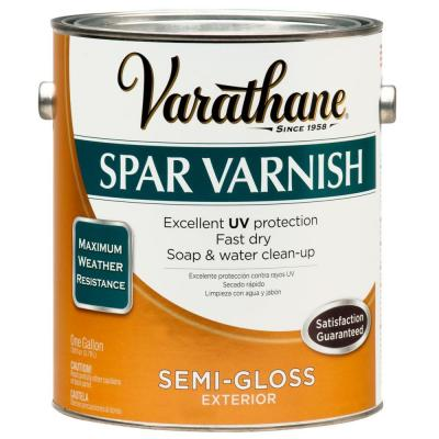 1 gal. Clear Semi-Gloss Water-Based Exterior Spar Varnish (Case of 2)