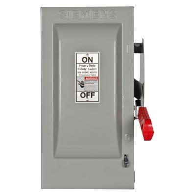 Heavy Duty 30 Amp 600-Volt 2-Pole Indoor Fusible Safety Switch Product Photo