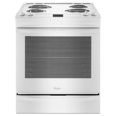 6.2 cu. ft. Slide-In Electric Range with Self-Cleaning Oven in White