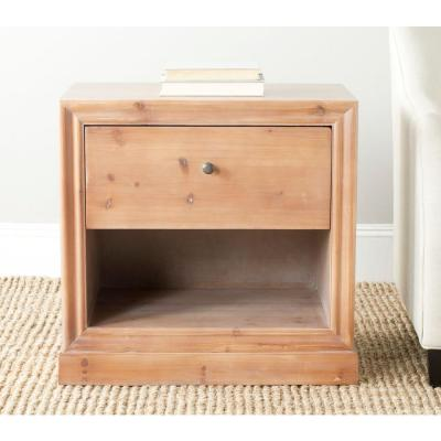Safavieh Cain Red Maple Storage End Table