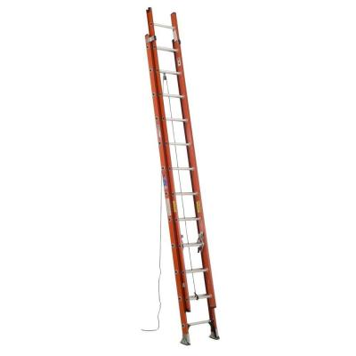 Werner 24 ft. Light Weight Fiberglass Extension Ladder with 300 lb. Load Capacity Type IA Duty Rating