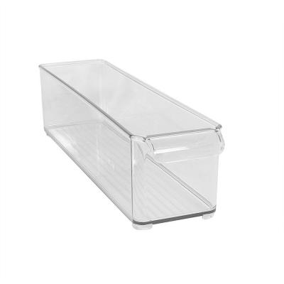 interDesign 4 in. x 4 in. Clear Fridge Binz Deep Bin