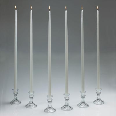 24 in. Tall White Taper Candles (Set of 12) with New
