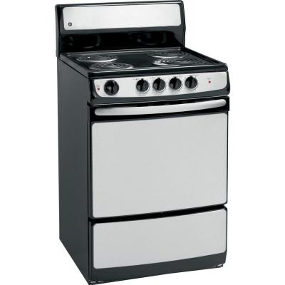 GE 24 in. 3.0 cu. ft. Electric Range in...