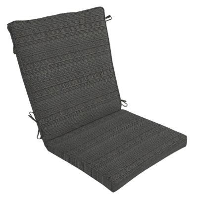 Hampton Bay Bentley Texture Outdoor Dining Chair Cushion-DISCONTINUED