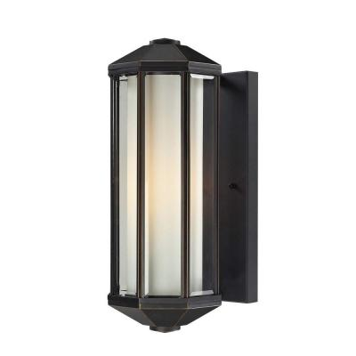 Tulen Lawrence 1-Light Outdoor Oil Rubbed Bronze Incandescent Wall Light