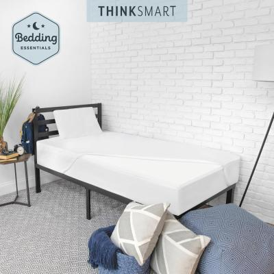 ThinkSmart Bedding Bundle with 2 in. Memory Foam Mattress Topper, Memory Foam Pillow, and Mattress Protector