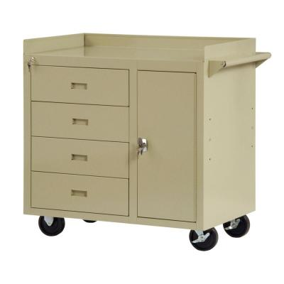 Edsal 36 in. W x 22 in. D 4-Drawer Mobile Workbench with Storage