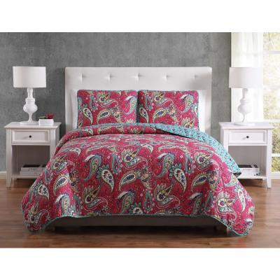 Mhf Home Avery Paisley Quilt Set