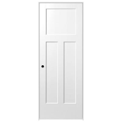 28 in. x 80 in. Winslow Primed 3-Panel Hollow Core Composite