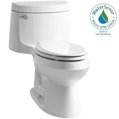 KOHLER Cimarron 1-Piece 1.28 GPF Single Flush Elongated Toilet with AquaPiston Flush Technology in White