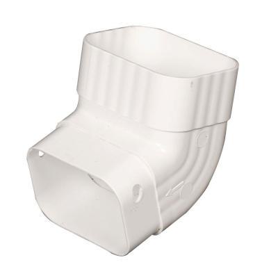 Amerimax Home Products 2 in. x 3 in. White Vinyl A-Elbow