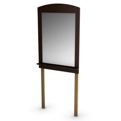 South Shore 41 in. x 28 in. Clever Chocolate Framed Mirror-DISCONTINUED