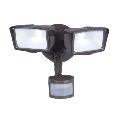 270 Degree Bronze Motion Activated LED Outdoor Security Floodlight