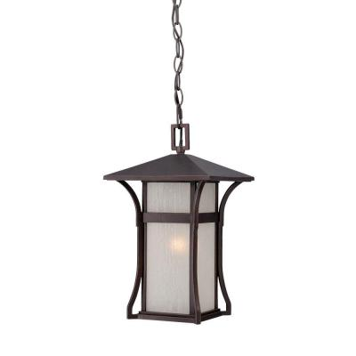 Acclaim Lighting Tahiti Collection 1-Light Outdoor Architectural Bronze Hanging Lantern
