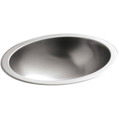 Bachata Undermount Stainless Steel Bathroom Sink in Stainless Steel with Luster Product Photo