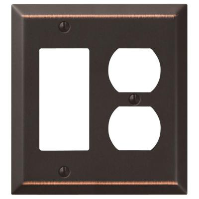 Century 1 Decora and 1 Duplex Combination Wall Plate - Aged