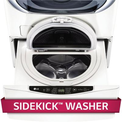 29 in. 1.0 cu. ft. SideKick Pedestal Washer in White