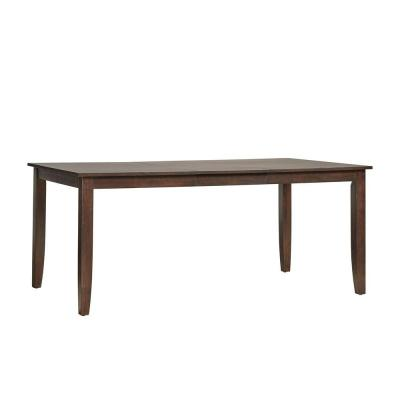 Loma Alta Extendable 6 ft. Parson Leg Rich Cherry Dining Table