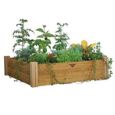 Gronomics 48 in. x 48 in. x 13 in. Modular Raised Garden Bed (Two Level)