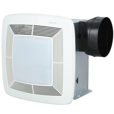 QTX Series Quiet 150 CFM Ceiling Exhaust Bath Fan with Light and Nightlight, ENERGY STAR Qualified Product Photo