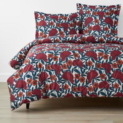 Company Cotton Alexandria Wrinkle-Free Floral Sateen Comforter