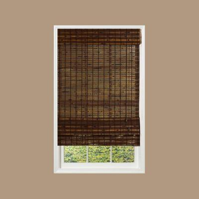 Radiance Cocoa Havana Bamboo Roman Shade - 46 in. W x 64 in. L