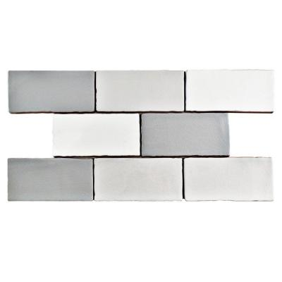 Antic Craquelle Gris Mix 3 in. x 6 in. Ceramic Wall Tile (4 sq. ft. / pack) Product Photo