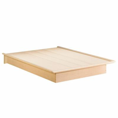 Bedtime Story Queen-Size Platform Bed in Natural Maple Product Photo