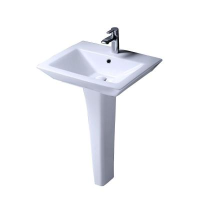 ... Products Aristocrat Pedestal Lavatory Combo Bathroom Sink in White