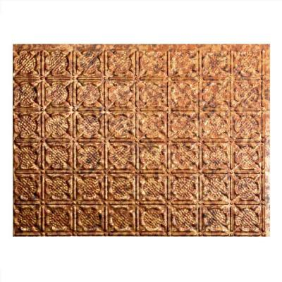 Fasade 24 in. x 18 in. Traditional 6 PVC Decorative Backsplash Panel in Cracked Copper