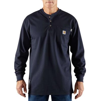 Men's FR Force Cotton Long Sleeve Henley