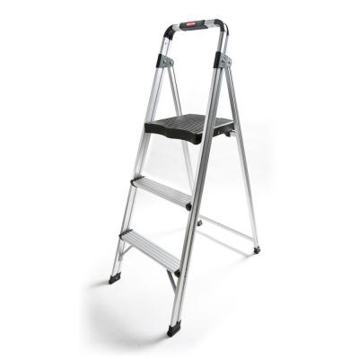 Rubbermaid 3-Step Aluminum Step Stool Ladder-DISCONTINUED