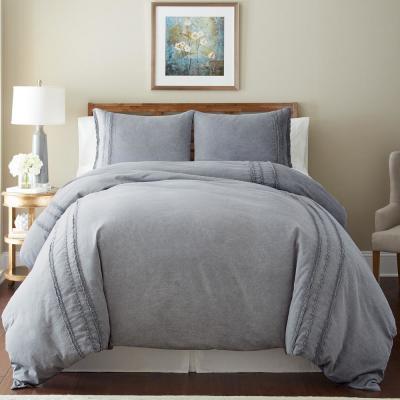 Detailed Navy Comforter