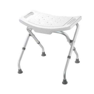 Adjustable Bath and Shower Seat in White